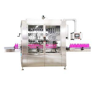 Máquina de enchimento de líquidos para garrafas com pescoço angulado por gravidade