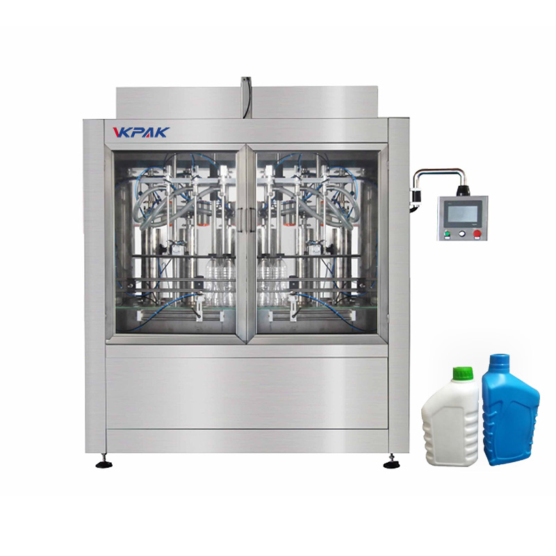 Máquina automática de enchimento de garrafas e líquidos