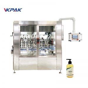 Máquina para enchimento de sabonete líquido linear e automática com servo-acionamento