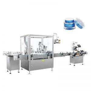 Máquina automática de enchimento e tampa de loção
