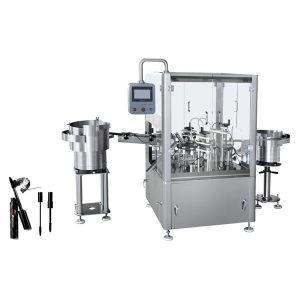 Máquina automática de enchimento e tamponamento de rímel