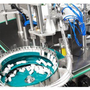 Máquina automática para encher e nivelar esmalte de unha
