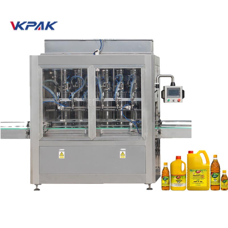 Máquina automática de enchimento de líquidos tipo pistão